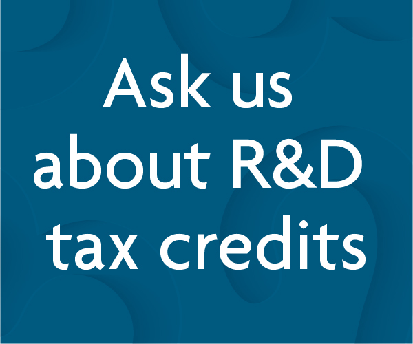 Ask us about R&D tax credits
